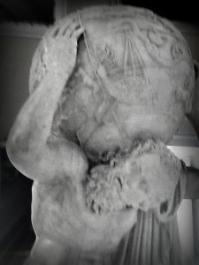 Sculpture of Atlas, taken at the Museo Archeologico Nazionale di Napoli by yours truly.